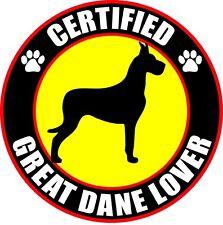 "Certified Great Dane Lover 4"" Dog Sticker"