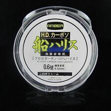 Amber (Japan) 100% 80LB Fluorocarbon Leader Fishing Line 36KG   50M   0.78MM