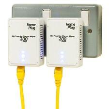 2 X New EU 200Mbps Homeplug AV PowerLine Ethernet Network Adapter Modem Pair