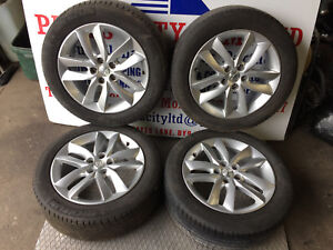 """2012 PEUGEOT 508 ACTIVE SET OF 4X 17"""" ALLOY WHEELS WITH TYRES 9671401380"""