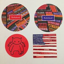 Radiohead Vintage Promo Vinyl Sticker Lot 4 Tour Stickers From 2003 And Amnesiac