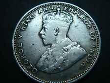 1935 Straits Settlements 20 cents coin