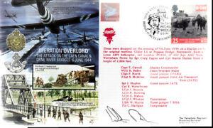 AF14b WWII D DAY Pegasus Bridge BFPS FDC signed Red Devils PARA NORTH