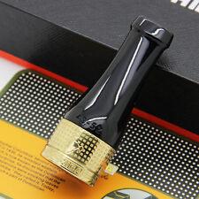 COHIBA Gloss Gold Pure Copper Black Resin Cigar Pipe Holder Nozzle 4 Sizes