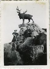 PHOTO ANCIENNE - VINTAGE SNAPSHOT - MILITAIRE OFFICIER STATUE MODE AMIENS 1934