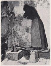 D2193 La pila per pilar Formenton, formento e orzo a Montona - 1923 old print