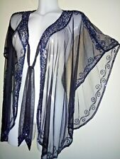NEW BLACK SEQUIN PONCHO STUNNING TOP WEDDING SILVER  SHRUG BOLERO COVER UP SEXY
