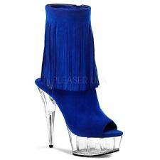 Damenschuhe im Stiefeletten-Stil mit Wildleder und Reißverschluss für Sehr hoher Absatz (Größer als 8 cm)