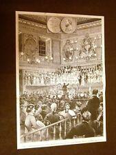 Roma nel 1880 Inaugurazione del busto a Pierluigi da Palestrina Sala Filarmonica