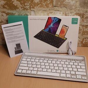 Multi-Platinum BT 3.0 Keyboard wireless Silver Bluetooth Channel Switching