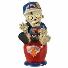 New York Knicks Zombie Figurine Gnome - Sitting On Logo