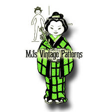 Vintage MISS JAPAN Cloth Doll & Outfit Pattern ~ International Doll