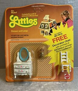 1980 The Littles Dollhouse Furniture by Mattel- Dresser and Lamp #1795 NIP