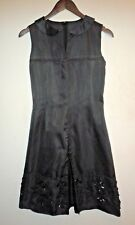 Jil Sander Navy Embellished Black Silk Dress - UK 4/ EU 32> RRP £625.00