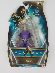 "2018 Aquaman Movie DC Comics 6"" Orm Action Figure Atlantean Trident"