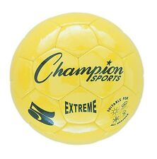 New Champion Extreme Size 5 Soft Touch Butyl Bladder Soccer Game Ball Yellow