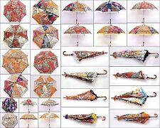 30 PC Wholesale Umbrella Indian Embroidered Kantha Sun Shade Decorative Parasol
