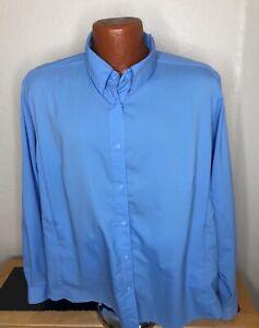 Women's Columbia PFG Omni-Shade L/S Button Front Shirt Size 2X 2XL - Blue