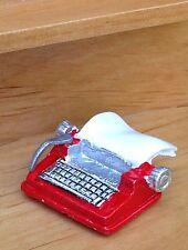 Miniature Dollhouse FAIRY GARDEN Accessories ~ Small Red Metal Retro Typewriter