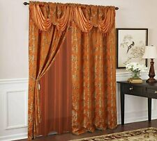 Olivia Gray Palm Floral Textured Jacquard 54 x 84 in. Single Rod Pocket...