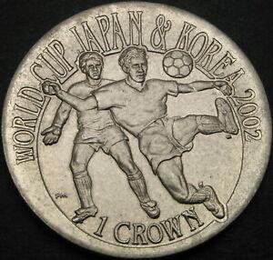 GIBRALTAR 1 Crown 2002 - FIFA World Cup 2002 - aUNC - 2138 ¤