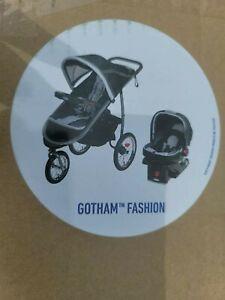 Graco FastAction Fold Jogger Travel System - Gotham snugride 35