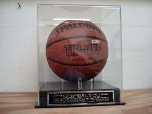 Giannis Antetokounmpo Basketball Display Case With A Bucks Engraved Nameplate