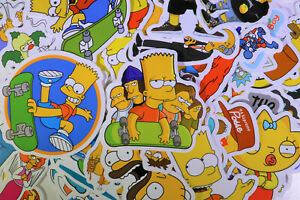 66pcs The Simpsons Vinyl Stickers for Truck/Skateboard/Luggage/Laptop Decal USA!