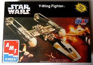 Star Wars Y WING Model Kit Its a Snap Vintage Fighter AMT ERTL hope empire jedi