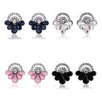 Fashion Women Lady Earrings Jewelry Crystal Rhinestone Flower Dangle Ear Stud