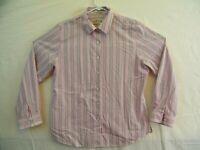 ORVIS Womens Classic L/S Button-front Shirt Pink Stripe 100% Cotton Size 16 EUC