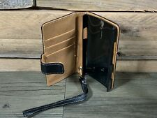 Sony Xperia S Mobile Phone Wallet Black & Tan Liquidation Stock RRP £16.99