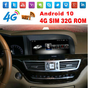 10.25 Android 10 GPS for Mercedes Benz S Class W221 S300 S350 500 400 2005-2013