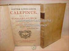 Septem Linguarum CALEPINUS, LEXICON LATINUM 1758  Folio Pergamena Calepino