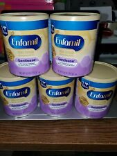 Lot of 5 Enfamil Gentlease Infant Baby Formula Powder 12.4 oz Ea ~ Exp 11/01/20