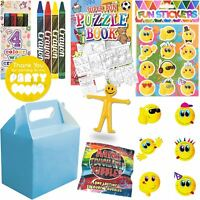 Boys Blue Childrens Wedding Activity Packs Favours Gift Party Bag Kids Boxes