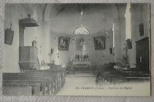 """CPA """" CHAMOUX - Intérieur de l'Eglise"""