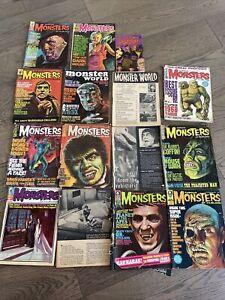 Famous Monsters of Filmland Magazine LOT