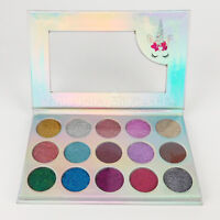 Unicorn Mermaid Glitter Eyeshadow Palette 15 Colors Shimmer Cosmetic Kit Makeup