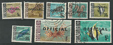 TANZANIA 1967 FISH OFFICIAL RANGE TO 5/- USED