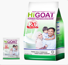 Goat Milk Powder Instant Drinks No Sugar Added Higoat (15 sachets x 21 g) Halal