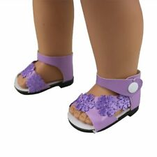 Cute Purple Granular Shoes For 18 Inch American Girl Doll Doll Accessories