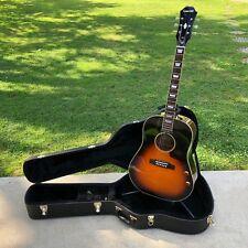 Epiphone EJ-160e John Lennon Acoustic/Electric Guitar & Case Vintage Cherry