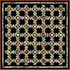 "DELIGHTFUL - Black - 97"" - Quilt-Addicts Pre-cut Patchwork Quilt Kit King"