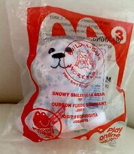 "Build a Bear 4"" Snowy Smiles Polar Bear McDonald's 2013 #3 Happy Meal Toy NEW BB"