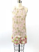 DOUGLAS HANNANT : XS 0 2 : Hand Beaded Silk Floral 1920s Style Gatsby Dress