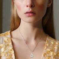 Kreuz 925 Silber Gold Halskette Anhänger Weißer Saphir Geschenk Schmuck