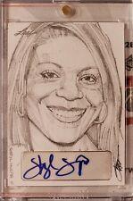 8568adf2fc7 2015 Leaf Masterworks Sketch Card Auto of Sheryl Swoopes by Steve Stanley  1 1
