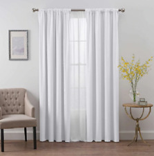 SmartBlock™ Chroma 63-Inch Rod Pocket 100% Blackout Window Curtain Panel  White