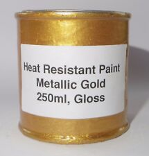 250ml GOLD METALLIC Gloss Heat Resistant Paint Engine Caliper Brake Car bike